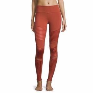 ALO Yoga Moto Leggings Orange Red